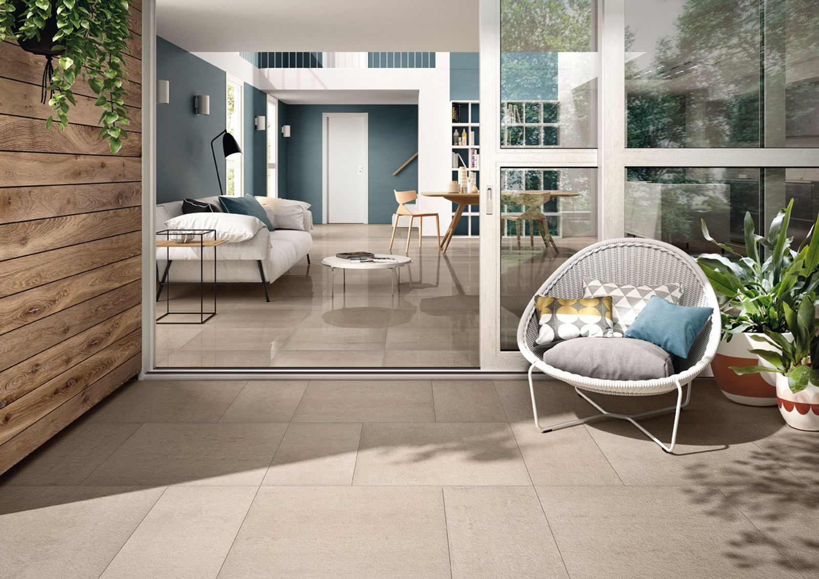 A triumph of technology, it is aimed at the architecture and design sector. The ceramic slabs have a gentle surface movement effect and come in a variety of colours, which can be coordinated, according to new aesthetic requirements.There are a total of seven new shades, pale, medium and medium-dark. Three surface finishes are available: polished, natural and bush-hammered.Re_Micron is completed with Re_Colour wall tiles. Double fired and rectified with the same caliber, these have a glossy look, for rooms with the most up-to-date minimalist appearance. Ideal for the most imposing and memorable designs. - AM REM 3 - Imola Ceramica