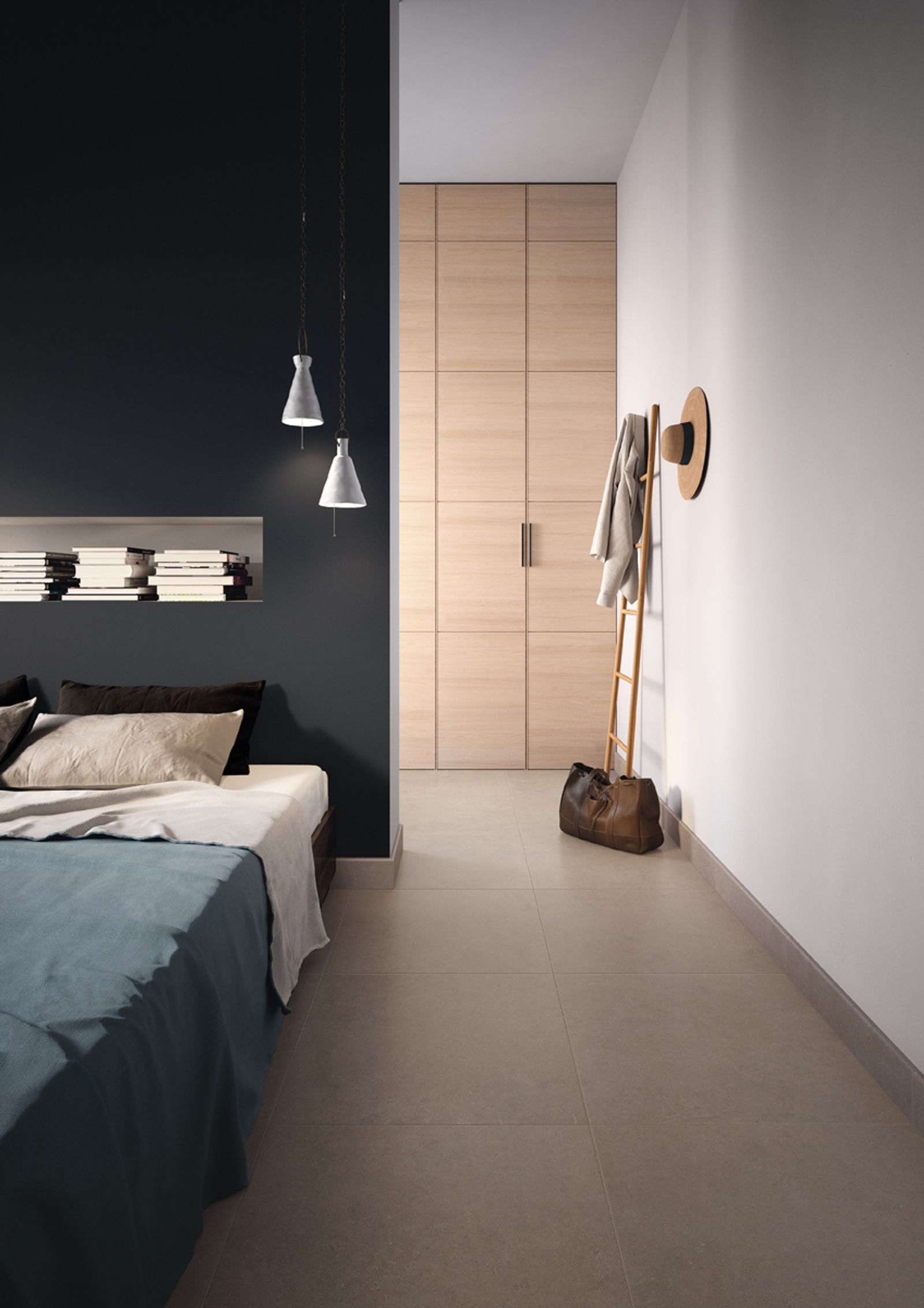 Simple, minimal, versatile in its ability to adapt to different furnishing contexts and styles.Walk recreates the effect of stone with a distinctive but uniform outer appearance. It is available in two sizes, 60x60 and 30x60 cm, and six colours. Thanks to the porcelain, these are particularly good sellers, being suited not just to domestic use, but also to many other uses.This collection is completed by Walker: a new non-slip surface in size 30x60 cm. - AM WALK 4 - Imola Ceramica